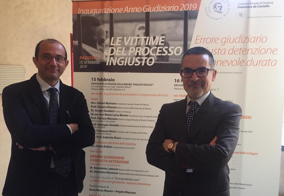 Benedetto Lattanzi e Valentino Maimone, fondatori di Errorigiudiziari.com