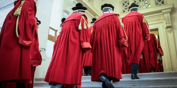 Magistrati durante un'inaugurazione dell'anno giudiziario in Cassazione.